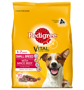 Pedigree Small Breed with Real Minced Beef 2.5kg