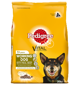 Pedigree Working Dog Complete Nutrition with Real Beef 20Kg